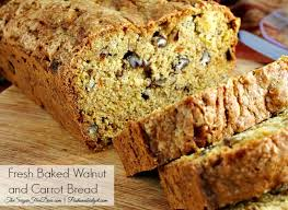 Fresh Baked Walnut and Carrot Breadsm
