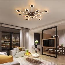 großhandel led deckenleuchte kreative flamme acryl deckenle nordic minimalist schlafzimmer wohnzimmer innenbeleuchtung rc dimmbare pendelleuchten