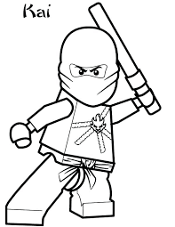 Ninjago Kai Coloring Pages Color Book Lego Zx