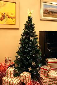 Fiber Optic Christmas Trees 6 Ft Lit Multi Color Led Tree Angel Topper