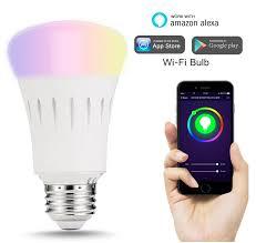 ce rohs certificate colorful smart lights led bulb e27 wifi l