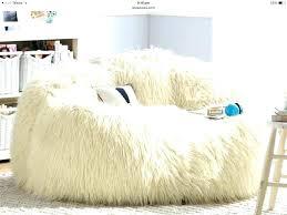 Fur Bean Bag Chair Big Fluffy Lambskin Furry Chairs