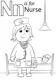 Letter N Coloring Pages Free Intended For The Stylish And Stunning