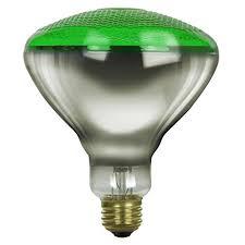 br38 green outdoor floodlight bulb 100 watts green light