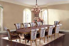 11 PIECE EUROPEAN DINING ROOM FURNITURE LUXURY FORMAL SET PEDESTAL TABLE