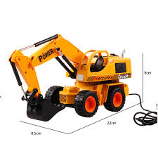 US $23.03 |1:24 RC Excavator Remote Control Vehicle Construction Bulldozer  Truck Toy Electric Toy Fun Movable Shovel Toy Gift For Children-in RC Cars  ...