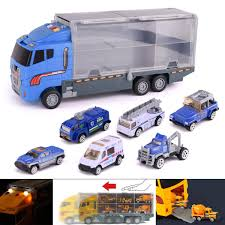 100 Toy Car Carrier Truck 3 Types S Military City Polic Transport With 6 Mini S Play Set Rier Lorry For Kids