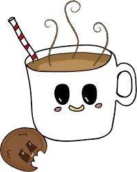 Cookie Kawaii Rebeccology Cookies Drawing Coffee Cute Jpg Black And White Download