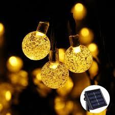 qedertek outdoor garden lighting solar string lights 11ft 10 led