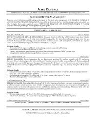 Examples Of Resume Objectives For Retail Management
