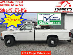 100 Dodge Trucks For Sale In Ky 1988 Used Dakota At Tommys Quality Used Cars Serving Guthrie