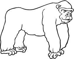 Awesome Gorilla Coloring Pages Best Ideas For Children