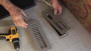 Floor Heater Grate Cover by Rv Heating Replace Floor Register Youtube