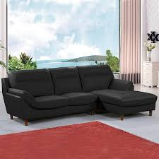 vente privée de canapé vente privée canapé d angle cuir 4 places angle gauche 51169
