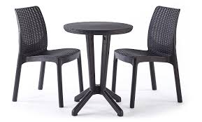 Keter Lounge Chairs Grey by Keter Bistro 2 Seater Rattan Outdoor Garden Furniture Set