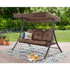 100 Mainstay Wicker Outdoor Chairs Patio Swing With Canopy 3 Person Padded Seats Furniture