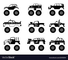 100 Big Truck Big Tires Monster Truck Automobile Big Tires And Wheels Off Vector Image