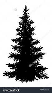 Flocked Christmas Trees Vancouver Wa by Stock Vector Tree Christmas Fir Tree Black Silhouette Isolated On
