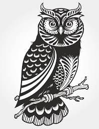 Owl Paper Cut Vector