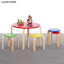 IKayaa US Stock Kids Table Chair Set Wood Round Kids Table 4 Chairs ... Amazoncom Angeles Toddler Table Chair Set Natural Industrial And For Toddlers Chairs Handmade Wooden Childrens From Piggl Dorel 3 Piece Kids Wood Walmart Canada Pine 5 Pcs Children Ding Playing Interior Fniture Folding Useful Tips Buying Cafe And With Adjustable Height Green Labe Activity Box Little Bird Child Toys Kid Stock Photo Image Of Cube Small Pony Crayola