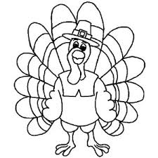 Happy Thanksgiving Turkey Coloring Pages