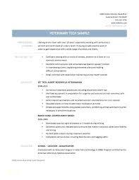 Veterinary Technician Resume Veterinarian Assistant Template Examples Vet Tech Objective