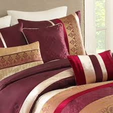 Mainstays Patio Set Red by Mainstays Umbridge 7 Piece Bedding Comforter Set Red Walmart Com