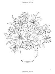 Dover Coloring Book Floral Bouquets
