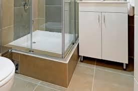 bath shower square white fiberglass shower pan with glass