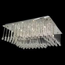 stainless steel rectangular flush mount lighting hanging majestic