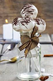 Barn Autumn Cake Pops Wedding Rustic Jar