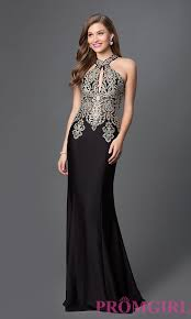 long lace high halter neck evening gown promgirl