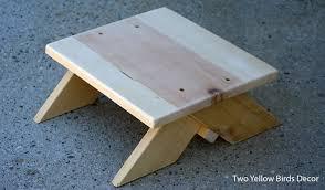 two yellow birds decor diy wood step stool