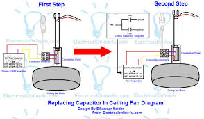 replacing capacitor in ceiling fan with diagrams electrical