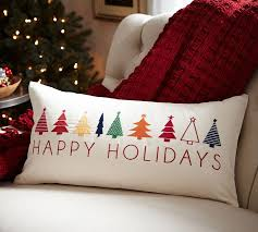 Happy Holidays Lumbar Pillow Cover Christmas crafted