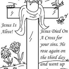 Coloring Page Of Jesus Dying On The Cross Archives