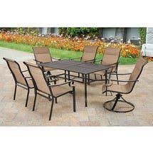 7 Piece Patio Dining Set Walmart by Mainstays Willow Springs 6 Piece Patio Dining Set Blue Seats 5