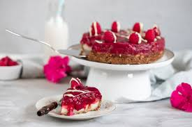 veganer rhabarberkuchen mit quark