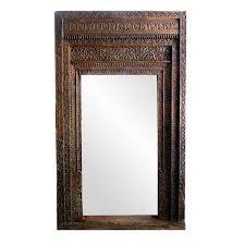 Vintage Old Door Mirror Frame Carved Wood Doorway Reu2026 Colonial