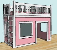 24 best loft bed plans images on pinterest 3 4 beds loft bed