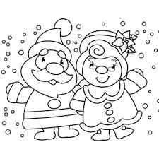 Peaceful Design Ideas Coloring Pages Of Christmas Mr Mrs Claus Page