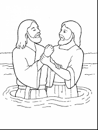 Superb John Baptism Jesus Coloring Page With Pages And Free Printable