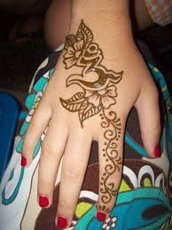 Easy Henna Tattoo Hand Photo