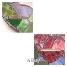 Quoizel Tiffany Lamp Shades by Vintage Quoizel Tiffany Style Flower Bouquet Stained Glass Pendant