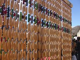 Natural Bamboo Beaded Door Curtain by Natural Bead Curtain