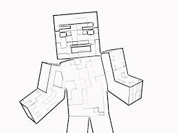 Download Printable Minecraft Steve Coloring Page
