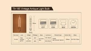25w 40w 60w t8 t9 t10 t30 vintage edison light bulb manufacturers