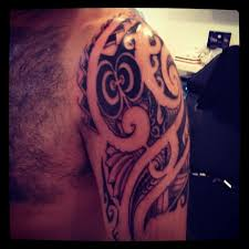 Polynesian Half Sleeve Tattoo 12