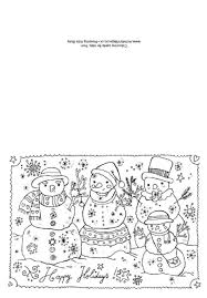 Christmas Card Coloring Pages Free Home Updated