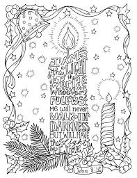 5 Christian Coloring Pages For Christmas Color Book Digital Adult Scripture Digi Stamp Church